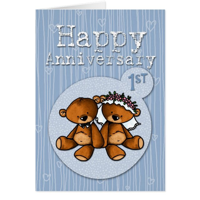 happy anniversary bears card