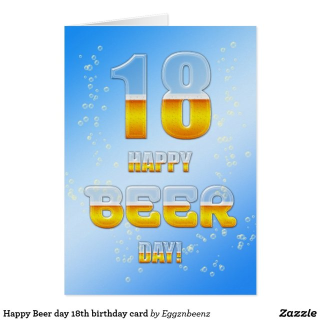 Happy Beer day 18th birthday card