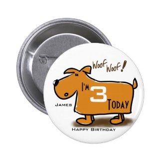 Happy Birthday cartoon dog I'm (age) today