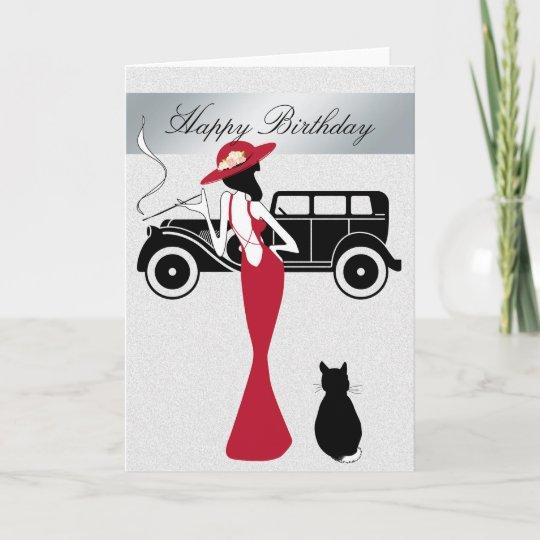 Happy Birthday Diva Card Elegant Woman Zazzle Co Uk