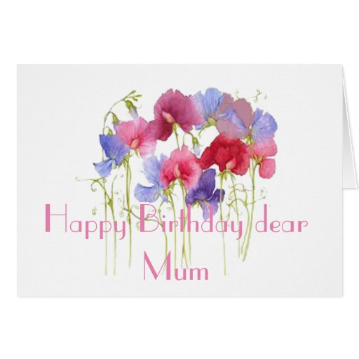 HAPPY BIRTHDAY MUM GREETING CARD