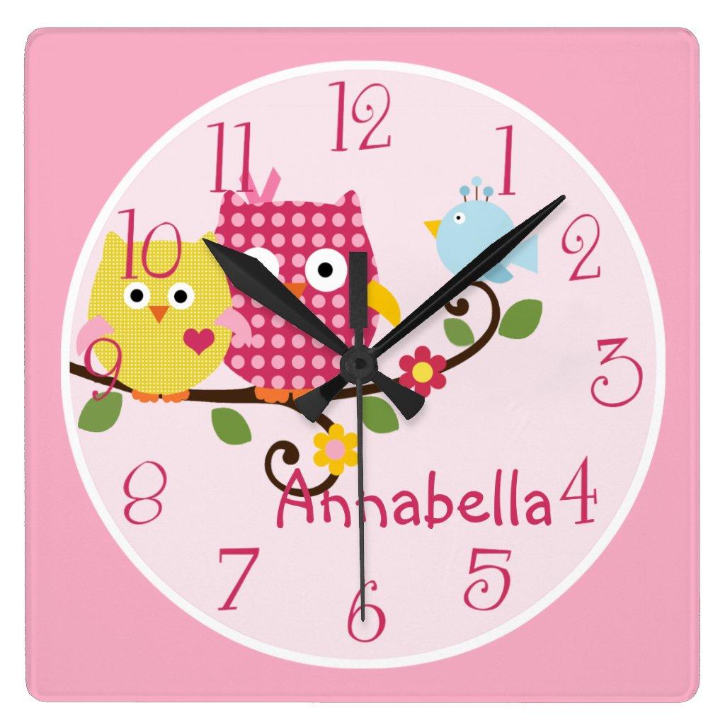 Owls Nursery Clock