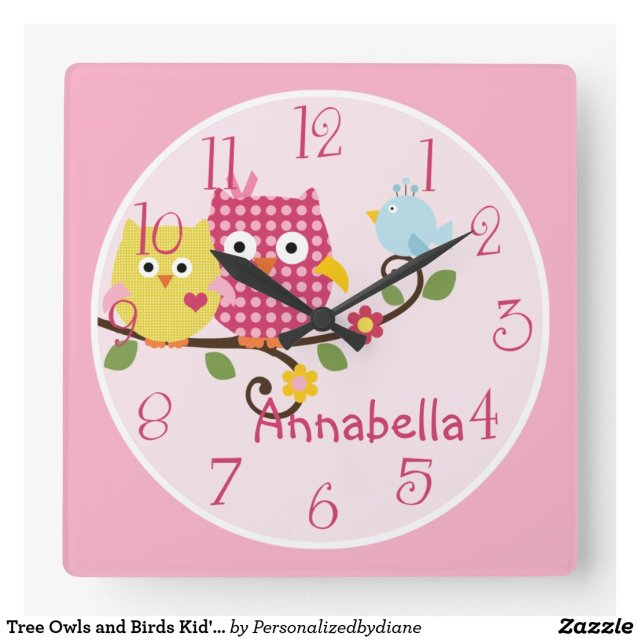 Owls Nursery Clock