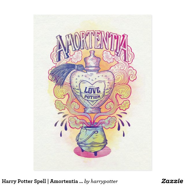 Harry Potter Spell | Amortentia Love Potion Bottle Postcard