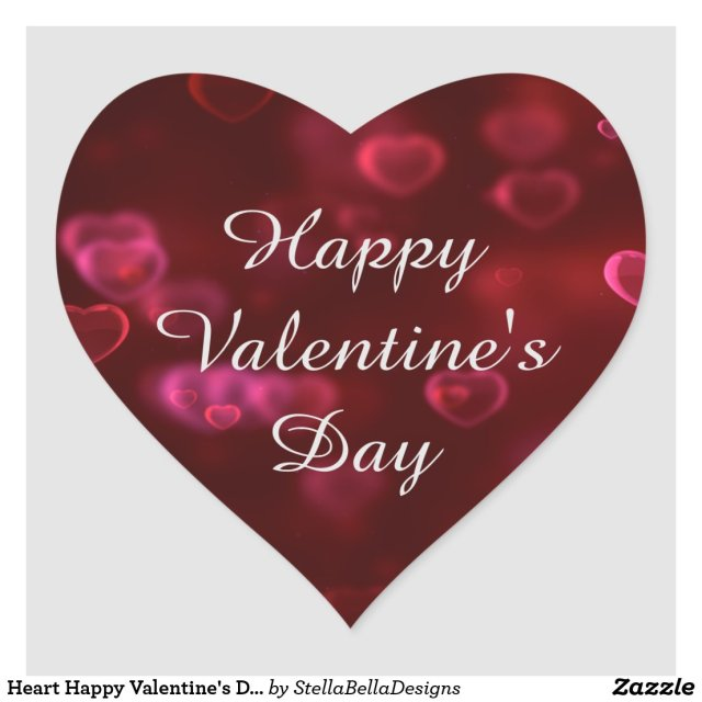 Heart Happy Valentine's Day Sticker