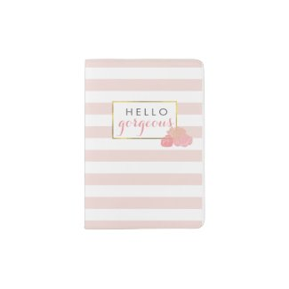 Hello Gorgeous | Pink Stripe & Blush Peony