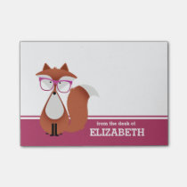 Hipster Fox Personalized Post-it® Notes
