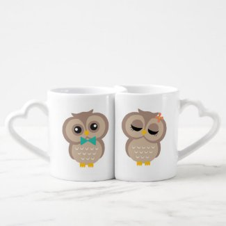 His and Hers Owl Couple Mugs