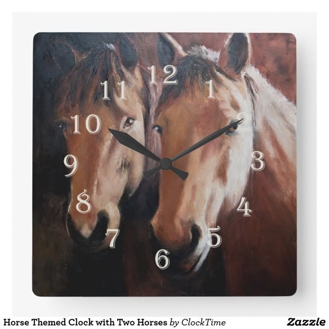 Horse Themed Clock
