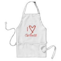 I love Christmas Adult Apron