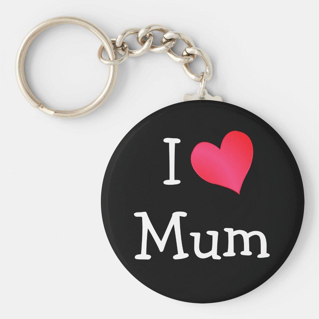 I Love Mum Keyring