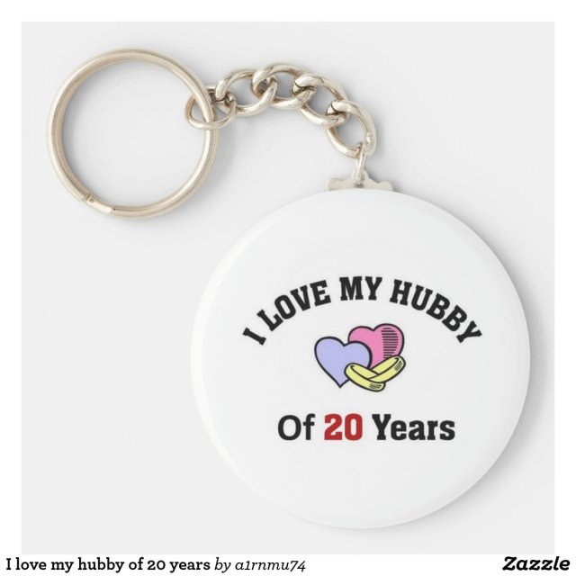 I love my hubby of 20 years keyring