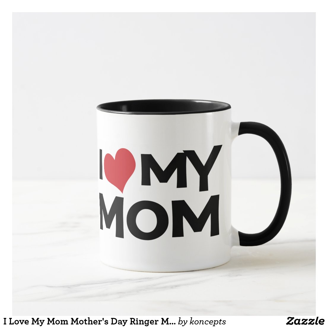 I Love My Mum Mother's Day Ringer Mug