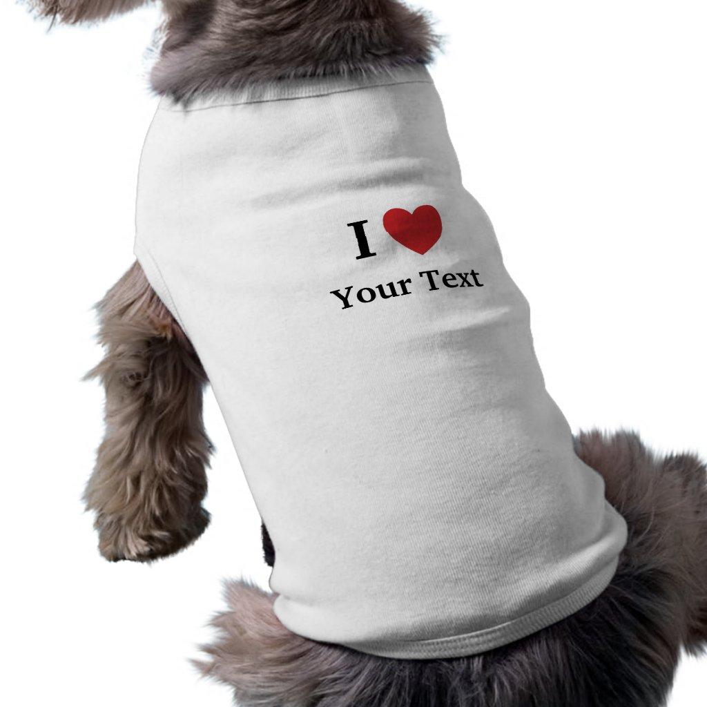 I Love Personalisable Dog Clothing
