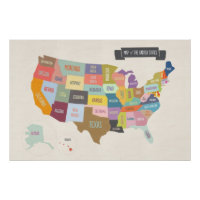 Illustrated Map of America 24 x 36