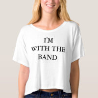 I'm With The Band Women's Crop Top