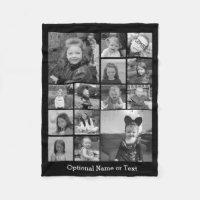 Instagram Photo Collage Fleece Blanket