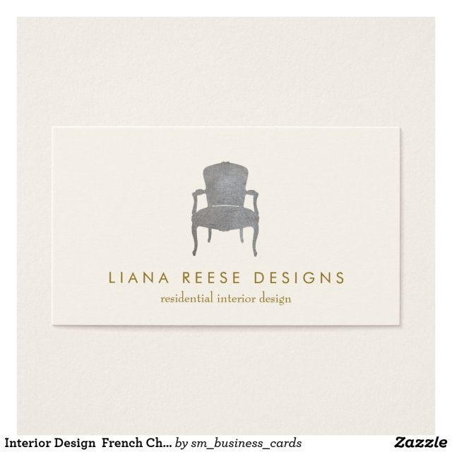 Interior Design French Chair Logo Business Card