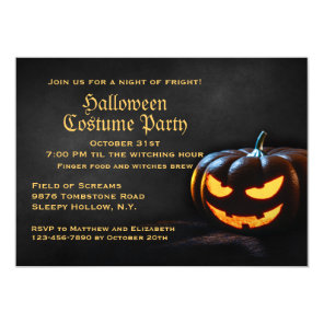 Jack-O-Lantern Halloween Party Invitation