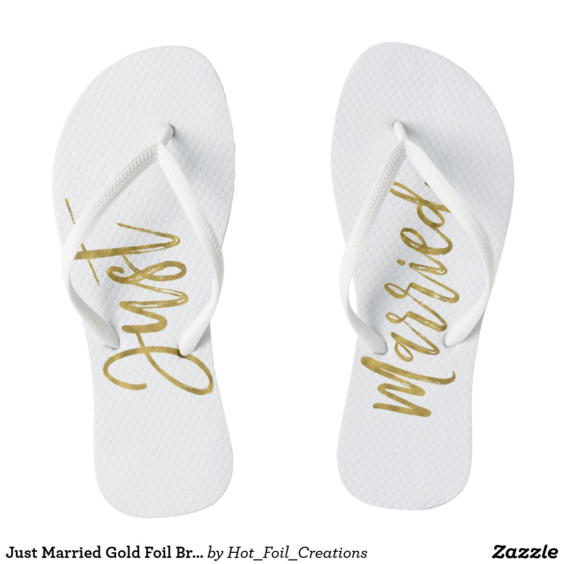 Just Married Bride Flip Flops