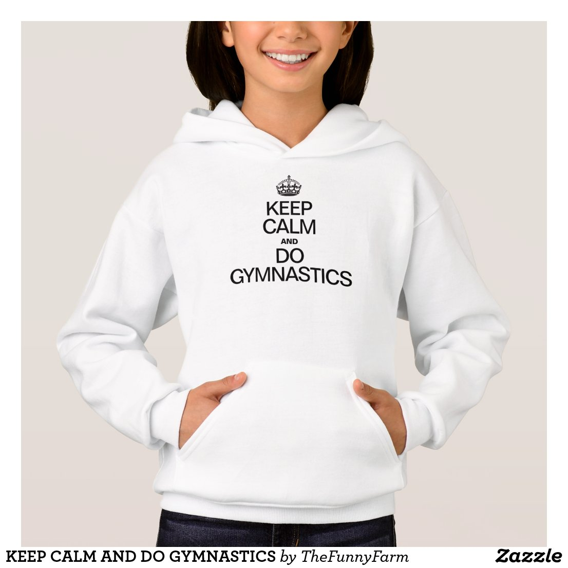 KEEP CALM AND DO GYMNASTICS HOODIE