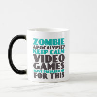Keep Calm Zombie Apocalypse Gamers Funny Mug