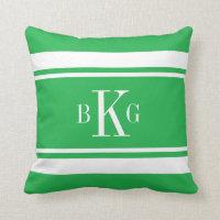 Stripes Custom Monogram Throw Pillow