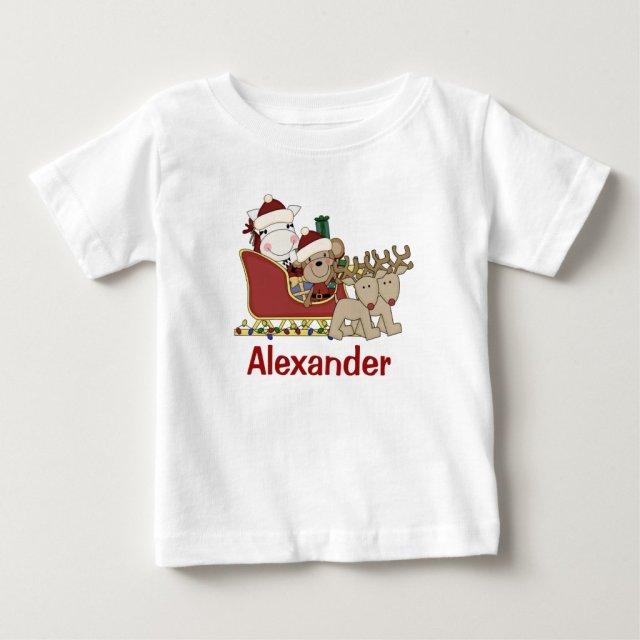 Kids Personalised Christmas Santa Sleigh