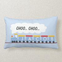 Kids Personalized Train Cushion