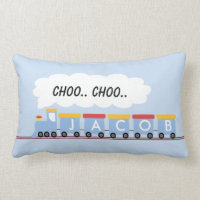 Kids Personalized Train Cushion