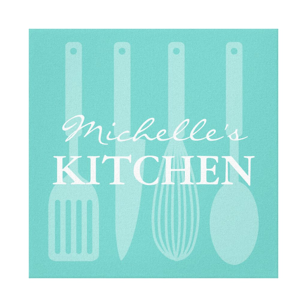 Kitchen cooking utensils wall art