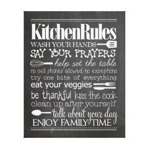 Kitchen Rules Canvas