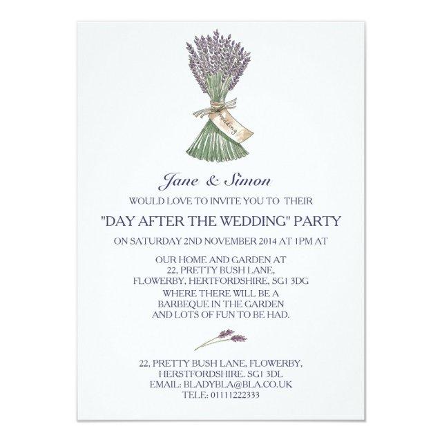 Lavender Country Garden Wedding/Party Invitation