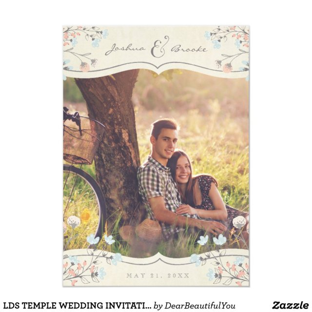 LDS TEMPLE WEDDING INVITATION | Photo Vintage