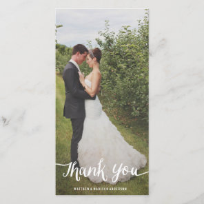 Lettered Overlay | Wedding Thank You Photo Card