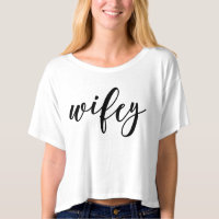 Lettered Wifey T-shirt