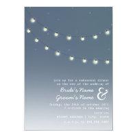 Light Bulbs Evening Wedding Rehearsal Dinner Paper Invitation Card