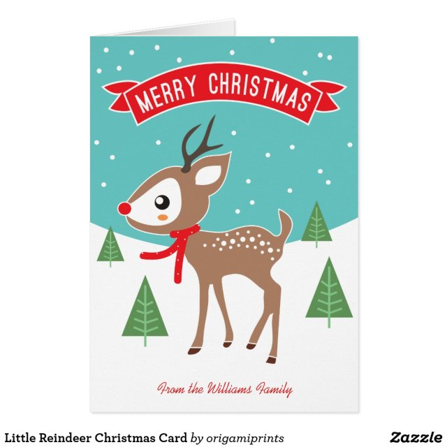 Little Reindeer Christmas Card