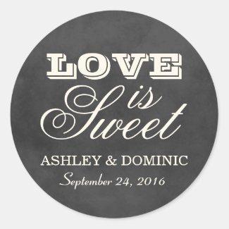 Love is Sweet Wedding Sticker