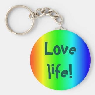 Love life! key-ring multi-colored