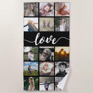Love Photo Collage Beach Towel