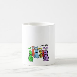 Love you cartoon dogs- mug