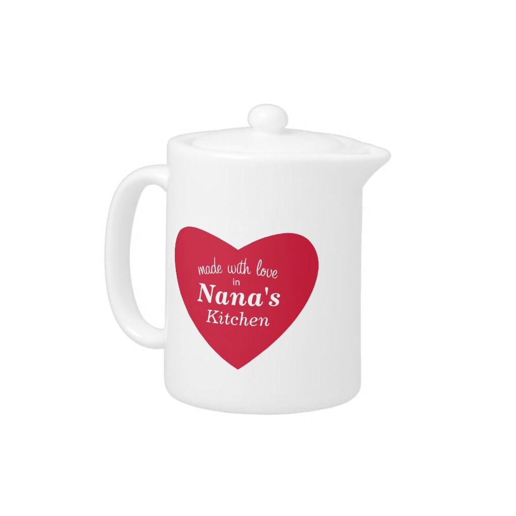Made with Love Tea Pot
