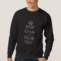 Make your own keep calm sweater with grey text