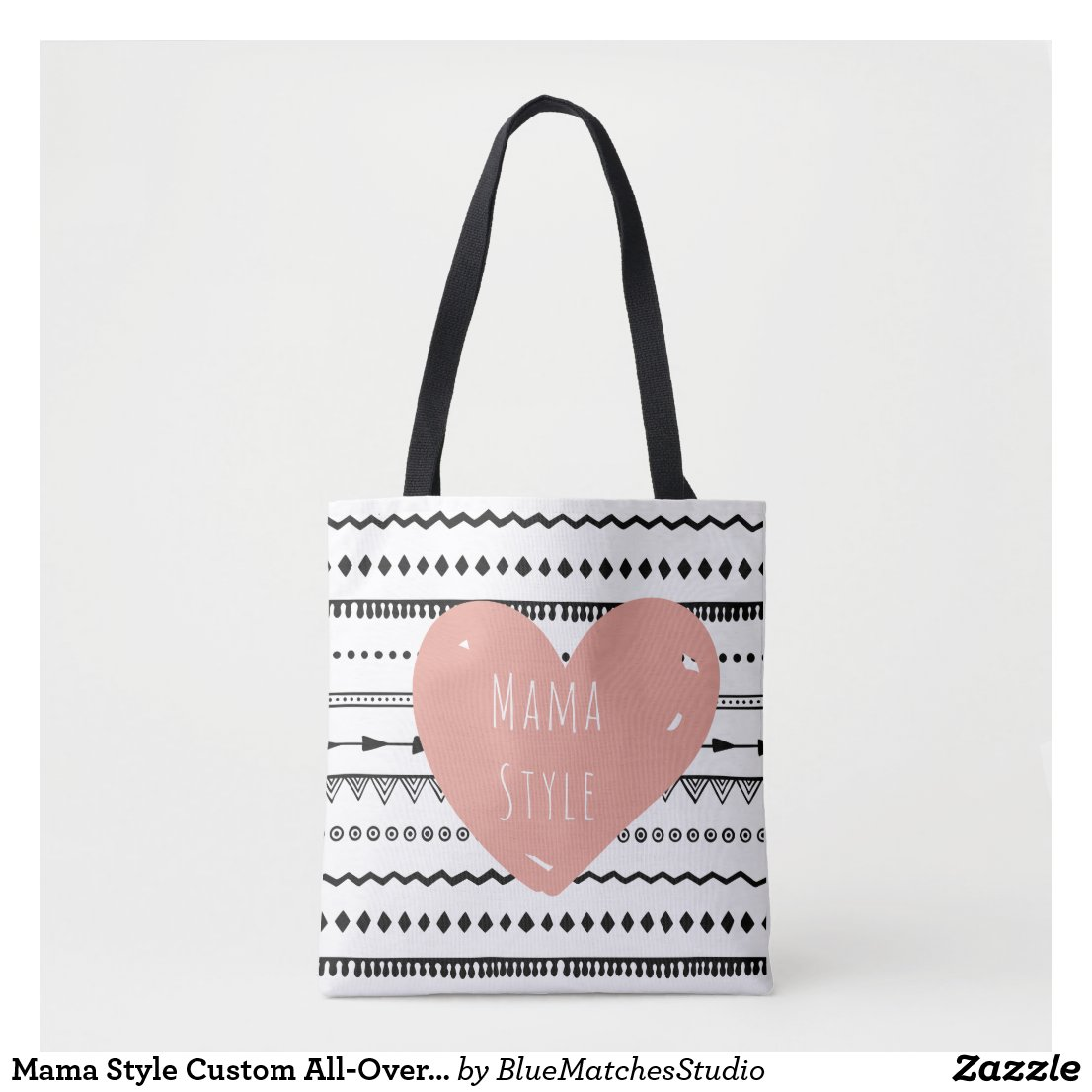 Mama Style Custom All-Over-Print Tote Bag