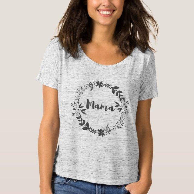 Mama Wreath T-Shirt (Grey)