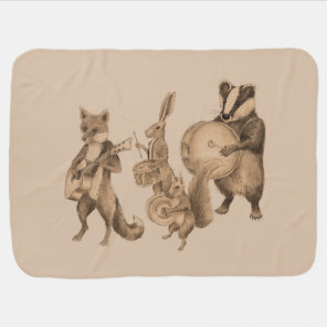 Marching band of animals baby blanket