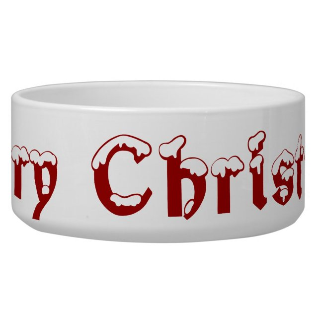 Merry Christmas Pet Bowl