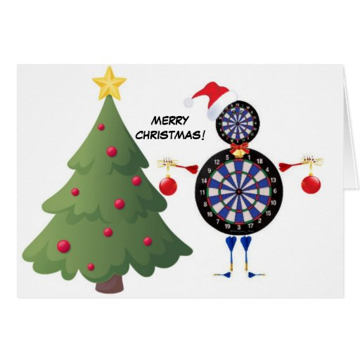 Merry Christmas Dart Player Cards Zazzle