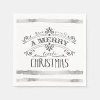 Merry little Christmas napkins
